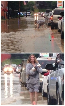 Meanwhile in West Virginia a spot of humor to lighten the mood around the floods