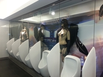 Mens restroom at a mall in Germany