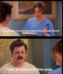 Mental illnesses according to Ron Swanson