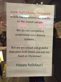 Merry Xmas from Teds Chinese Restaurant