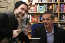 Met Chris Hadfield Handed DSLR to girlfriend so she could take a picture of us GOOD JOB HUN