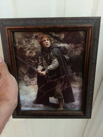 Met Sean Astin at a comic-con I told him my wife cries at the end of Fellowship of the Ring when Sam chases after Frodos boat EVERY time this was the autograph I got