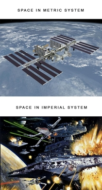 Metric vs Imperial systems in space