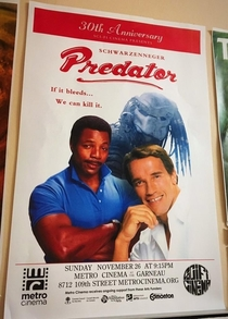 Metro Cinemas retake on the Predator poster
