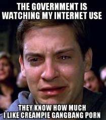 MFW I read about the governments internet spying program