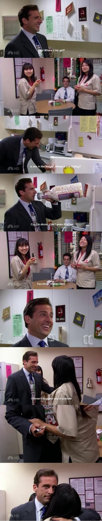 Michael forgetting which one was his date is one of the funniest scenes from The Office