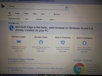 Microsoft trying to keep you from downloading Chrome when you search for Chrome on Bing