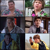 Mind blown Was Jurassic Parks Dennis Nedry secretly cosplaying as characters from the Goonies