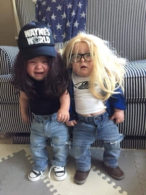 Mini Wayne and Garth