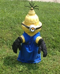Minions are showing up all over my hometown I wish I knew who was doing this