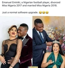 Miss Nigeria  vs Miss Nigeria  But the husband is same lucky guy