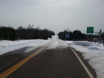 Missouri plowedtreated their highway after a recent snow storm Arkansas did not