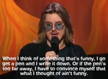 Mitch Hedberg perfectly explains what happens when I come up with something funny to post on Reddit
