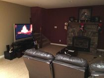 Mom told me to start the fireplace so the basement was warm when family arrivednot sure what she got so upset about
