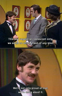 Monty Python predicted modern vegans