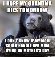 Morbid I know but she doesnt have much time left