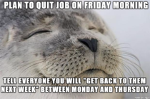 Most stress free work week in a long time