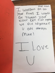 Mothers Day cards are Lit this year in my th grade class