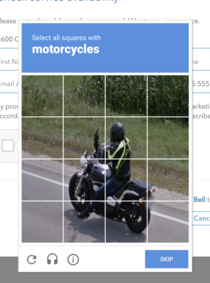 Motorcyclist hates CAPTCHAs as much as we all do