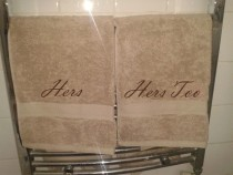 Moving in with my girlfriend so picked up some His amp Hers towels
