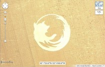 Mozilla Firefox make rivals Google advertise for them with this Oregon crop-circle on Google maps