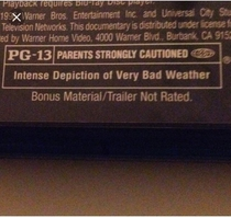 MPAAs description for its PG- rating of s Twister