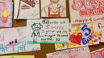 My addition the Five Guys wall