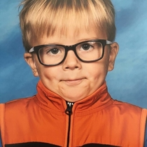 My aunt just received her sons kindergarten picture