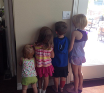 My aunt was taking care of her grandchildren when one misbehaved and earned what she calls a nose-on-the-wall The rest of them joined in for solidarity