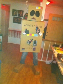 My AWESOM-O  costume