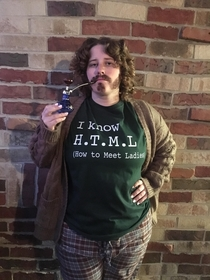 My beautiful bride-to-be dressed up as Erlich Bachman from Silicon Valley