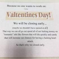 My bosses husband and wife wanted to close early today I think he was a little reluctant