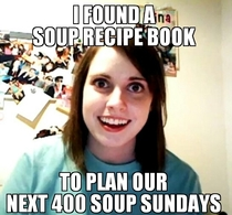 My boyfriend amp I do soup sunday amp I came across this book of  soup recipes