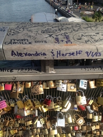 My boyfriend dumped me a few weeks before I headed to Paris and visited the Love-Lock Bridge making the best of it