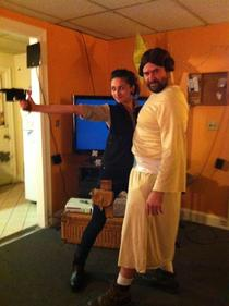 My boyfriend thought we should be Han and Leia for Halloween Majestic Princess Leia x-post from rHalloweenCostumes