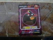 My brother bought a pack of Angry Birds playing cards from a Chinese store and found this