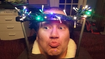 My brother in law broke his neck but not his Christmas spirit