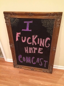 My brother-in-law works for Comcast he was late and his customer made this for him while waiting