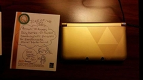 My brother left his DS in his hotel room When he came back the house keeper left him a note