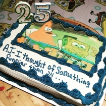 My brother said he was waiting  years to make this cake for my BDay