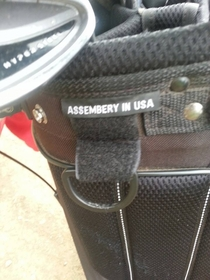 My buddies golf bag For some reason I dont believe it