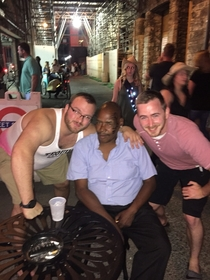 My buddy and I were convinced wed found Mike Tyson in an alley in Downtown Nashville last night Told everyone Then looked at the photo this morning Oops