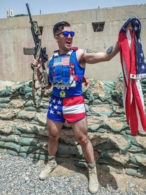 My buddy serving in Afghanistan may be losing his mind out there Happy Independence Day America