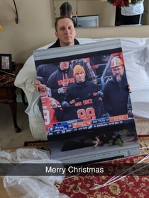 My buddys brother got a picture of himself for Christmas