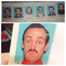 My buddys commitment to his drivers license photos