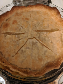 My chicken pot pie came out looking pretty angry