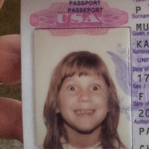 My childhood passport photo They told me not to blink