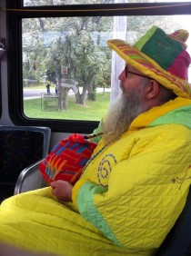 My citys wizard riding the bus