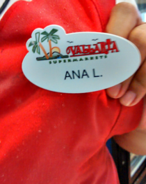 My co-workers unfortunate name tag
