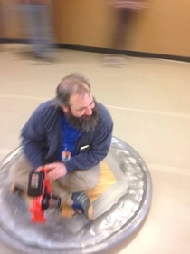 My cousin is a science teacher He built a hover craft for his students
